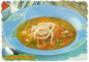 Рыбно-кальмаровый суп