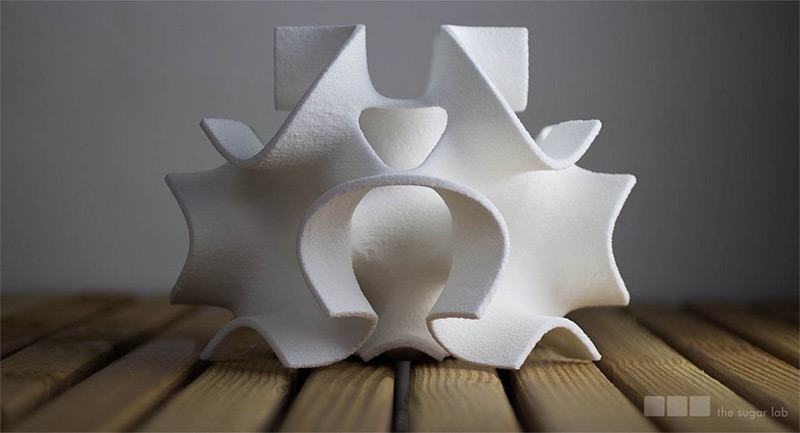 Beautiful 3D Printed Objects Made of Sugar by the Sugar Lab