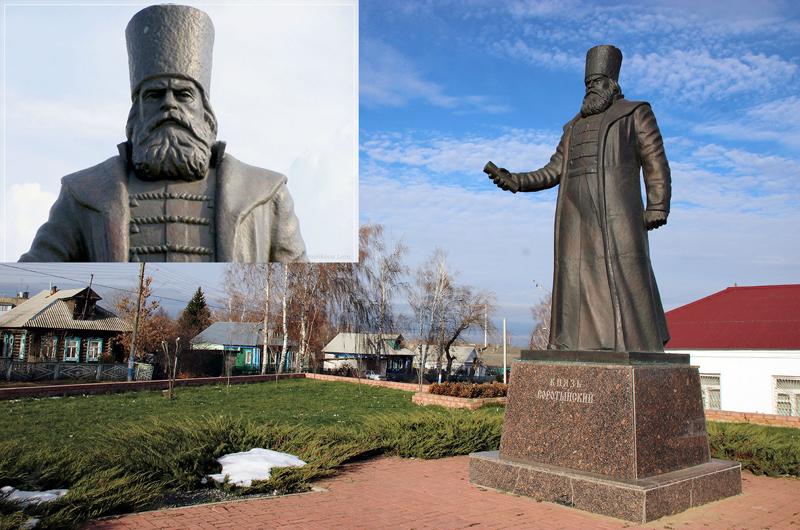 Памятник воеводе Михаилу Воротынскому в посёлке Воротынец Нижегородской обл.