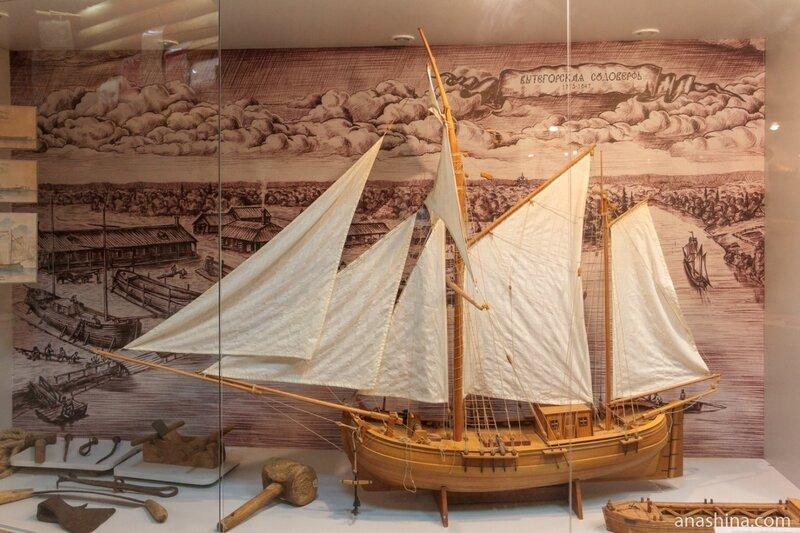 Макет корабля, Вытегорский краеведческий музей, Вытегра