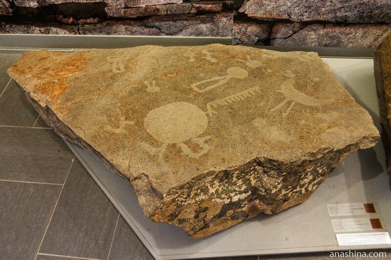 Петроглифы с мыса Пери Нос, Национальный музей Республики Карелия, Петрозаводск