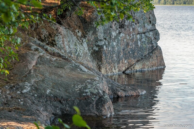 Камни в воде, парк Монрепо, Выборг