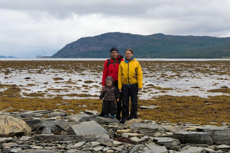 семья в велопоходе по северной норвегии