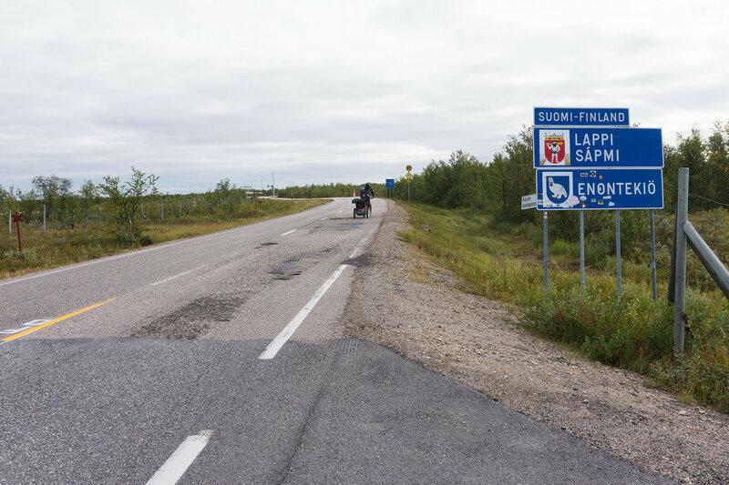 граница финляндии и норвегии на дороге 93 у каутокейно