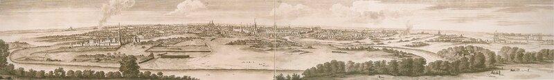 Вид на Москву с Воробьёвых гор в петровские времена