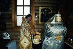 26.03.2000 г., Митрополит Кирилл и епископ Пантелеймон совершают поминовение перед Великим входом.