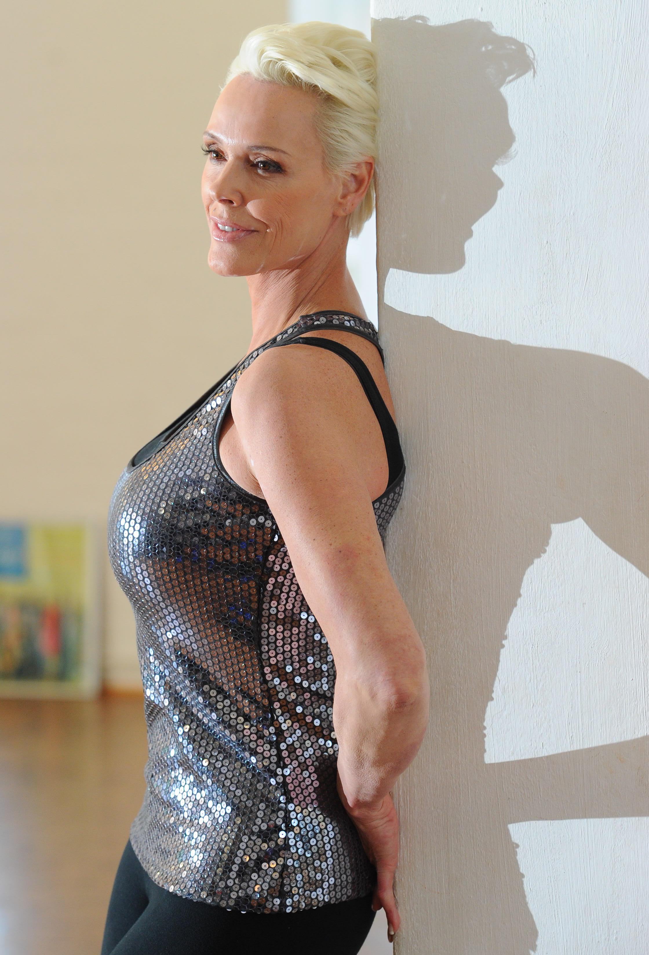 Brigitte Nielsen trainiert für