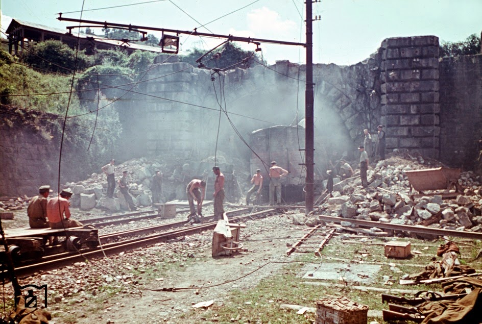 Air attacks and guerrilla attacks, such as here on a train at the tunnel of Monzuno.jpg