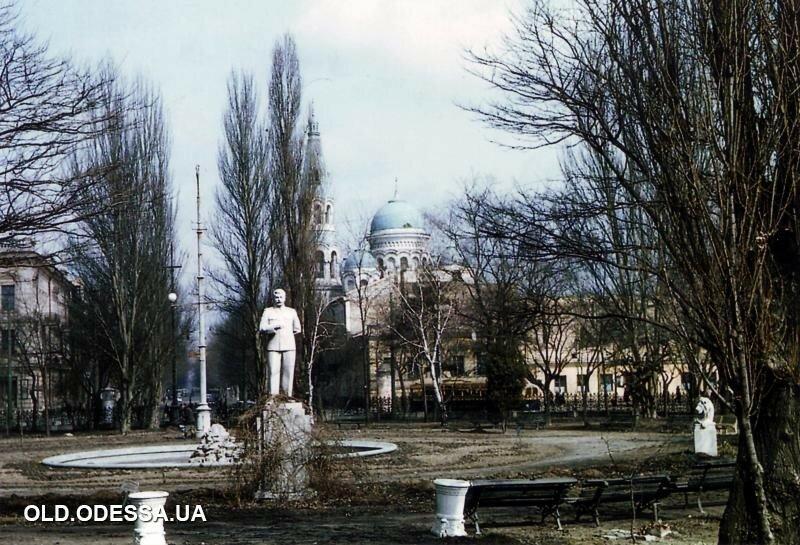 1956 Одесса. Сквер привокзальной площади.jpg