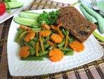 Стручковая фасоль  с морковью