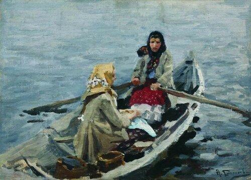 Алексей Степанович Степанов  1858 — 1923  В лодке. 1900-1910
