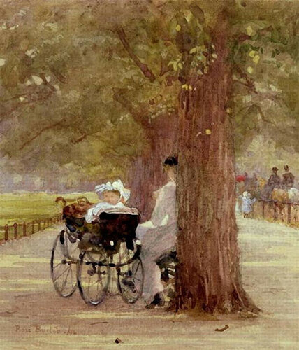 Отдых в Роттен-Роу, 1892Роуз Мейнард Бартон (Rose Maynard Barton