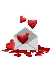 День почты! Сердечки в конверте открытки фото рисунки картинки поздравления