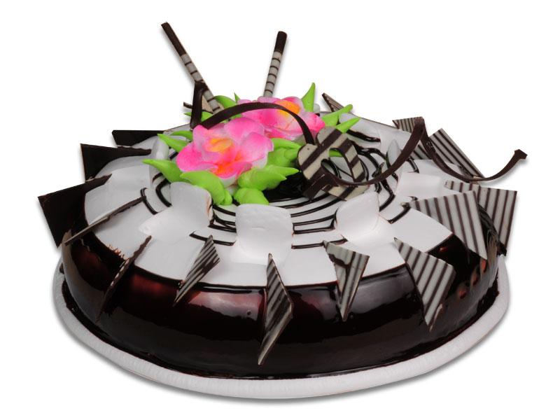 Красивый шоколадный торт.  С международным днем торта!
