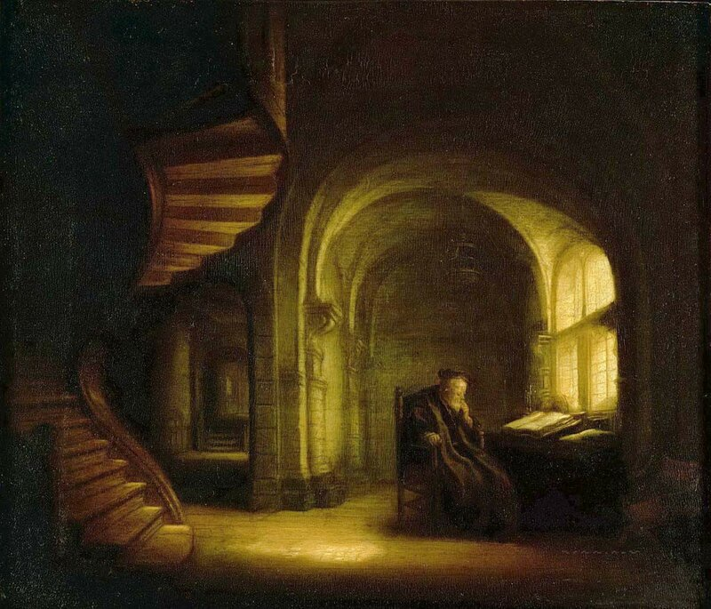 1625-1627_Философ с открытой книгой (Philosopher with an open book)_28 х 34_д.,м._Париж, Лувр.jpg