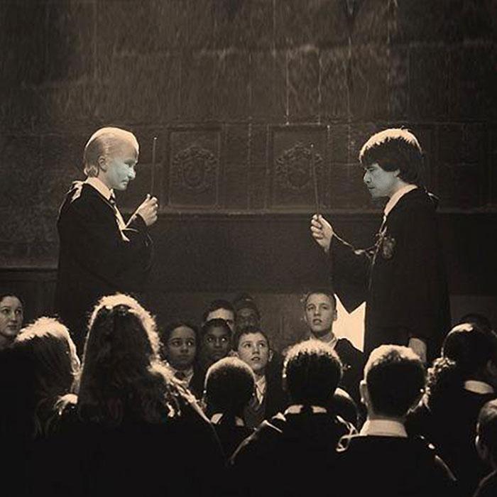 Вместо Гарри Поттера и Драко Малфоя.