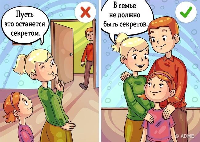 Иногда мама или папа, заручившись поддержкой ребенка, доверяют ему какую-то тайну, которую тот долже