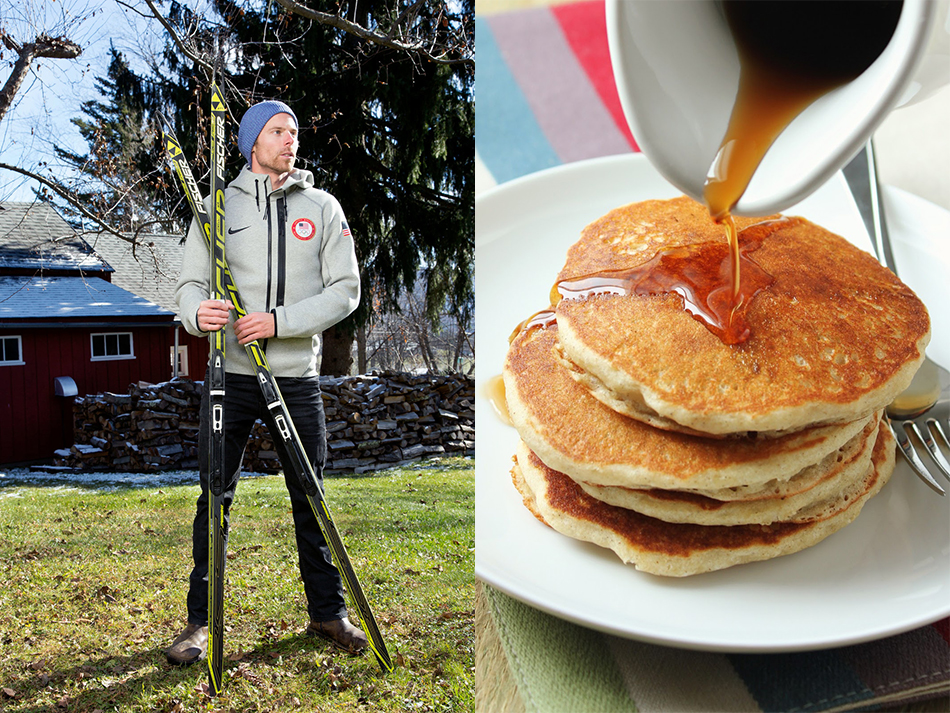 Участник Олимпийских игр лыжник Энди Ньюэлл любит печь оладьи по старому рецепту своего дедушки. Бог