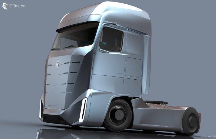 Проект КАМАZ E-Truck от российского студента.