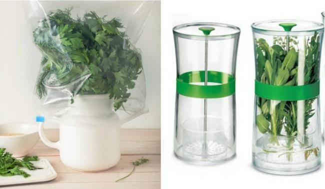 © Depositphotos  © Cuisipro  Проще всего сохранить зелень свежей, воспользовавшись специ