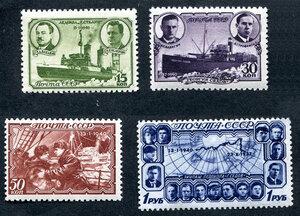 1940 год. Полярный дрейф ледокольного парохода Георгий Седов