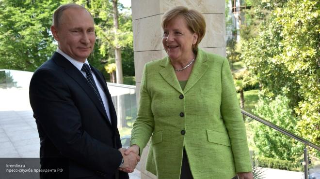 Меркель после переговоров сПутиным выразила надежду наотмену санкций