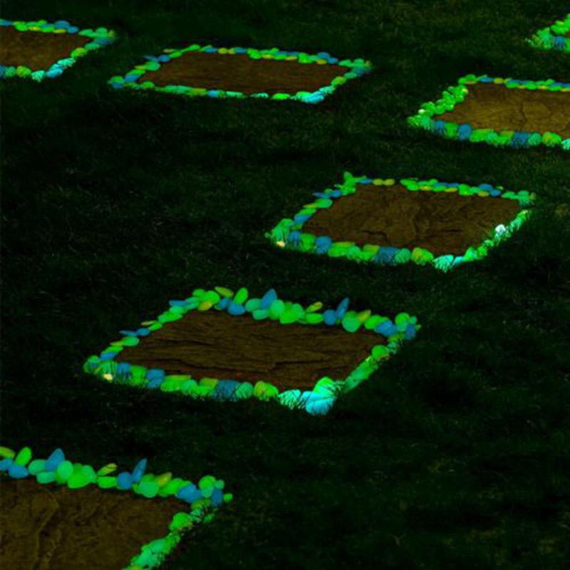 Светящиеся камни для сада