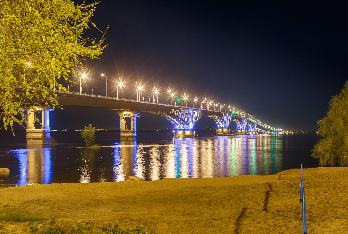 возвращение исторической подсветки на мост Саратов-Энгельс фото 3