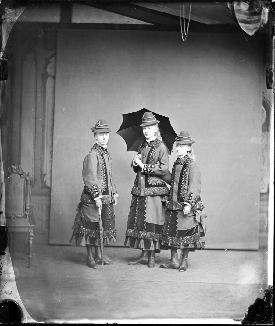 Мария Анна, Маргарет и Елизавета Саксен-Альтенбургские, 1878