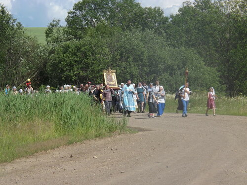 Крестный ход в Верхне-Чусовской Казанской Трифоновой пустыни