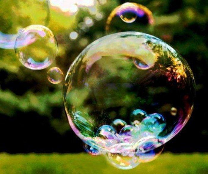 Открытки. День красоты. Красота мыльных пузырей