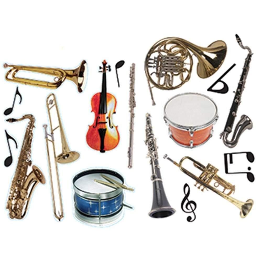 Открытки. День музыки. Музыкальные инструменты