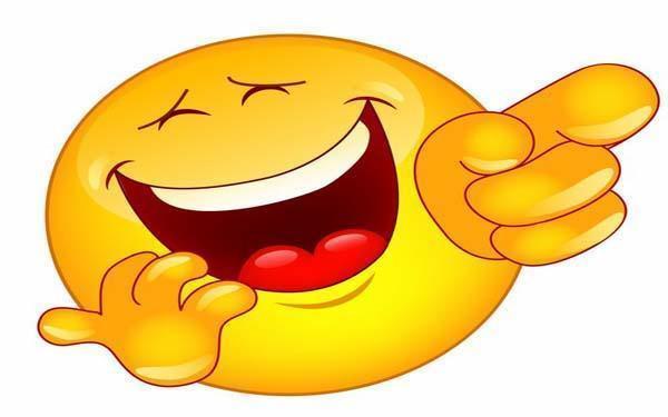 С Днем улыбки! Смайлик смеется