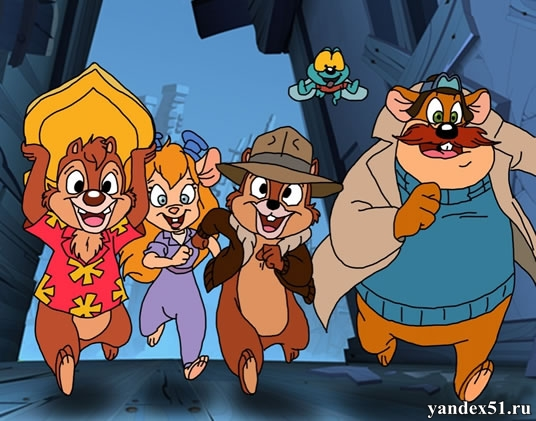 Чип и Дейл спешат на помощь (1-3 сезоны: 1-65 серии из 65) / Chip and Dale Rescue Rangers / 1989-1990 / ДБ / SATRip + AVC