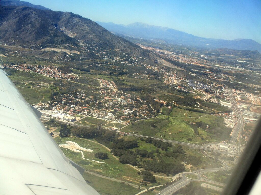 Torremolinos. View from the airplane