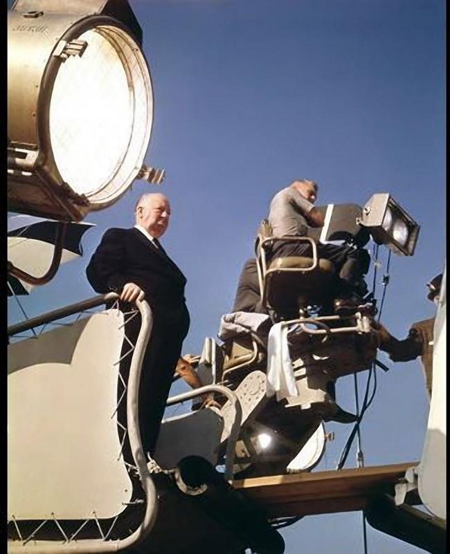 7. На съемках фильма «Разорванный занавес», 1966 год.