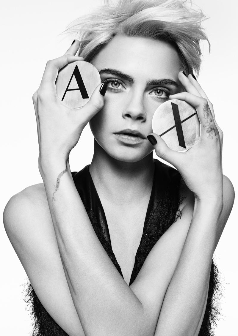 Кара Делевинь в рекламе A|X Armani Exchange