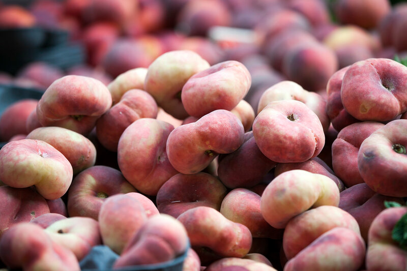 the Variety of peaches on the market for sale. Peaches are a storehouse of vitamins