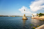 Monument to the flooded ships and Kornilov Embankment in Sevastopol, the Crimea