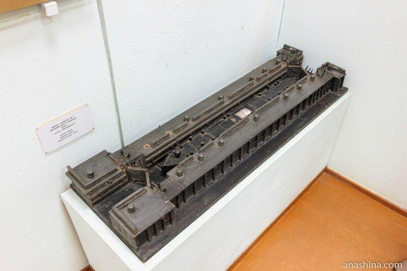 """Макет шлюза №1 Мариинского канала, 1810 год, музей """"Водные пути Севера"""", Вытегра"""