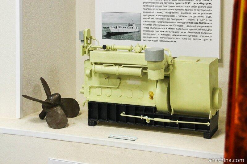Модель дизельного мотора, Музей промышленной истории Петрозаводска