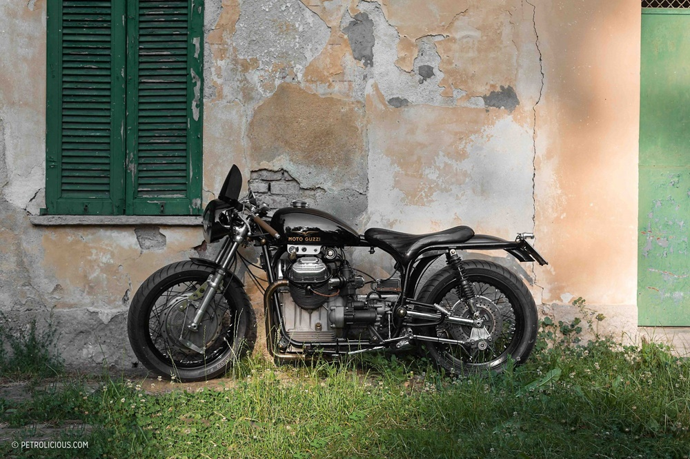 Давиде Кафорио: кастом Moto Guzzi V7 Special Lama Nera 1970