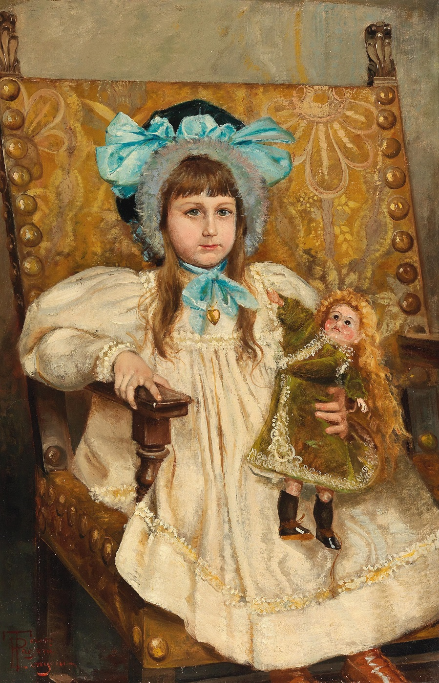 Teresa Almeida Girl Seated with Doll