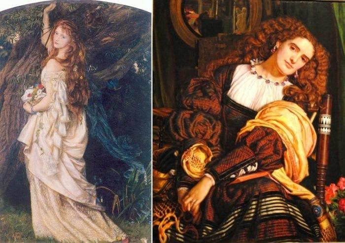 Слева – Артур Хьюз. Офелия, 1863. Справа – Уильям Холман Хант. Далекая нежность, 1866 По мнен
