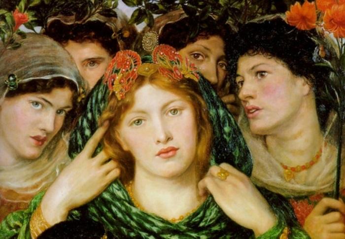 Данте Габриэль Россетти. Возлюбленная (Невеста), 1865-1866. Фрагмент