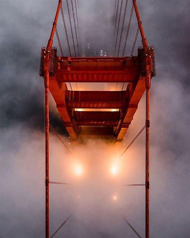 Захватывающие виды туманного Сан-Франциско от Ника Штейнберга (10 фото)