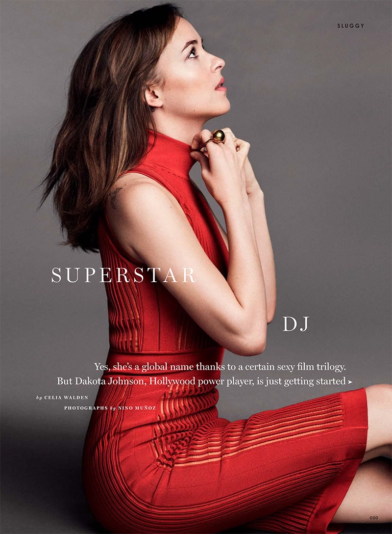 Дакота Джонсон на обложке Glamour UK
