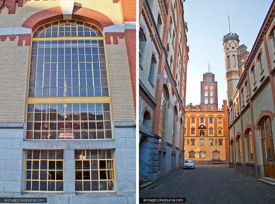 Макет пивоварни. В 1902 году был построен этот пивной замок. «Feldschlosschen» кстати и перевод