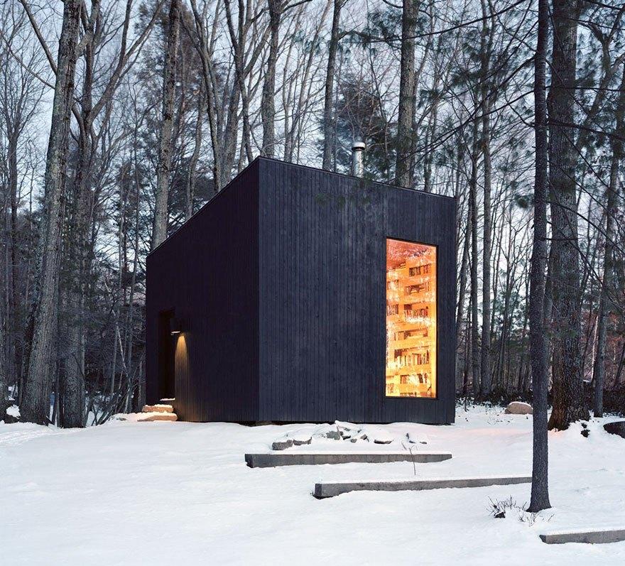 Уединенная библиотека в лесу – мечта каждого книголюба! (5 фото)
