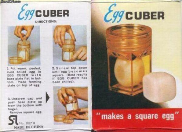 Китайская штуковина, которая сжимает вареное яйцо в куб. Очень круто, но есть один вопрос: зачем?